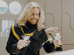 Zaphod Beeblebrox mixing drinks